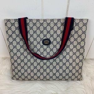 Gucci Shoulder Tote Bag Vintage Authentic RARE